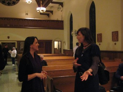 Two composers chat at the 2010 Local Composers Concert