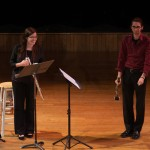 Mary Matthews, flute, and Alex Kollias, clarinet, at the 2014 Women Composers Festival of Hartford